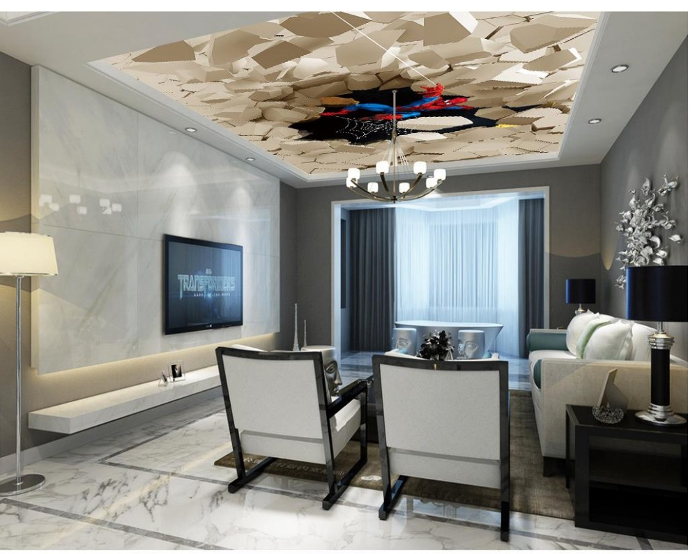 3d customized wallpaper 3d wallpaper for room Sky Pigeon flying zenith 3d ceiling murals wallpaper in Wallpapers from Home Improvement