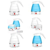600ML Compact Size Home Electric Kettle Durable Silicone Foldable Portable Travel Camping Water Boiler Electric Appliances
