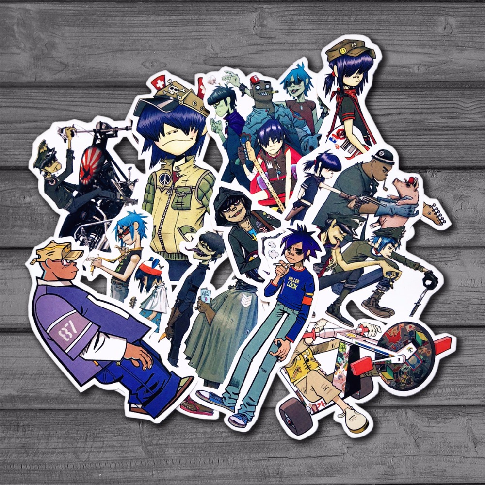 10Pcs Blur Band Gorillaz Cool Sticker Decal For Kids Toys Car On Laptop Bicycle Suitcase Notebook Skateboard Waterproof Stickers