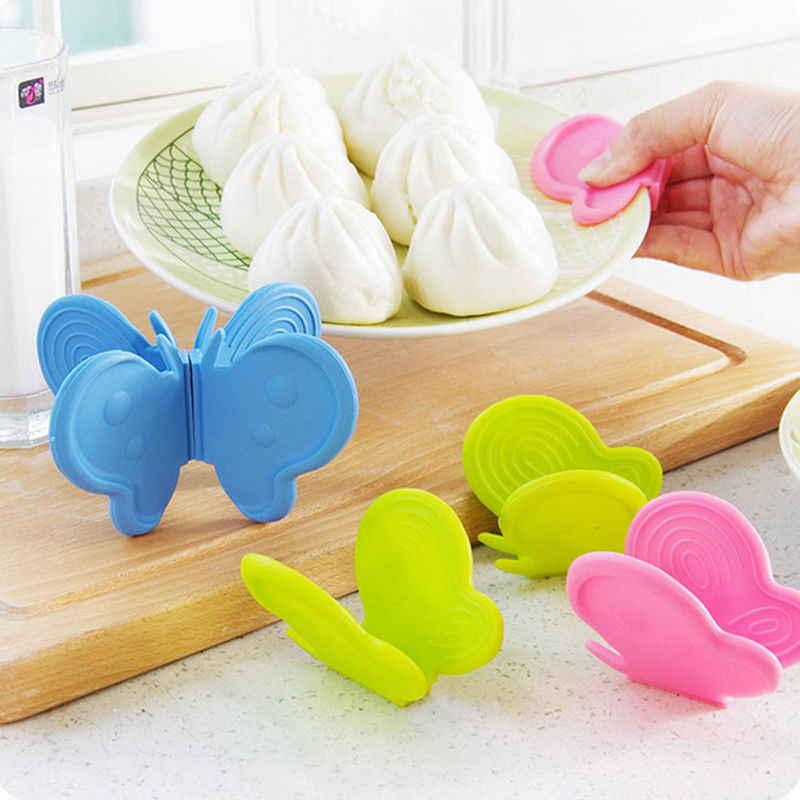 2018 mais novo quente adorável borboleta silicone anti-escalda dispositivo ferramenta de cozinha gadget cor aleatória