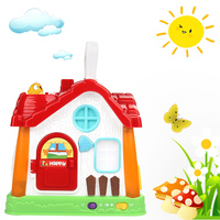 Novel Learning Machine Kids Multifunction Fun House Baby Toys Musical Lighting Intelligence Early Educational Toy For