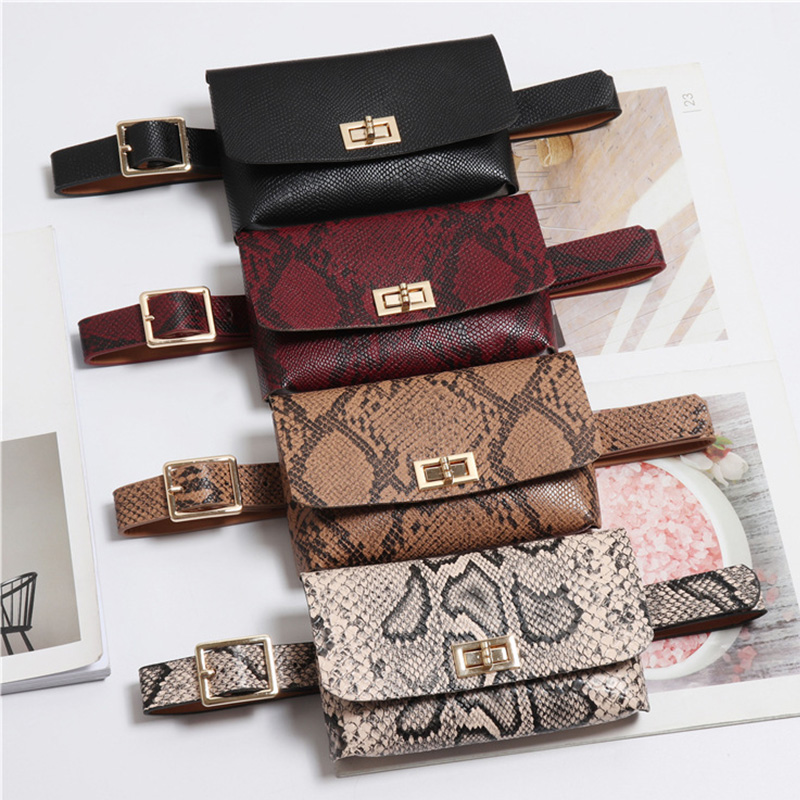 Fashion Animal Prints Pu Leather Waist Pack Bags Belt Pouch Multi Function Travel Chest Bag Hip Money Phone Belt Bag New Arrival