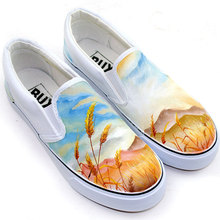 Men Shoes Chaussure Femme Couple Shoes Hand Painted Nostalgic wind Daoxiang Men and Women Chaussure Lumineuse Zapatos Hombre