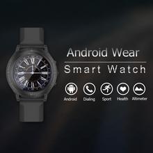 Android tragen Dual-Core Metall Smart Uhr für iPhone Android mit Pulsmesser Bluetooth 4,0 Internet Teilen Smartwatch w3
