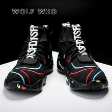 WOLF WHO 2019 Male Sneakers High Top Brand Big Size 35-47 Me