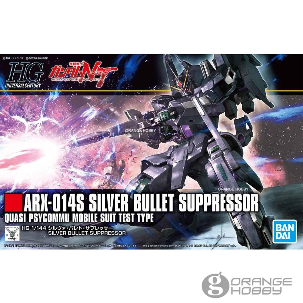 OHS Bandai HGUC 225 1/144 ARX-014S argent suppresseur de balle Gundam ensemble de modèle d'assemblage de costume Mobile