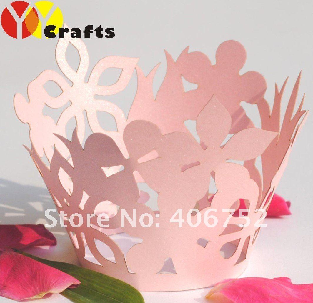 summer flower!Fast Shipping 12pcs/pack christmas wedding cupcake ...