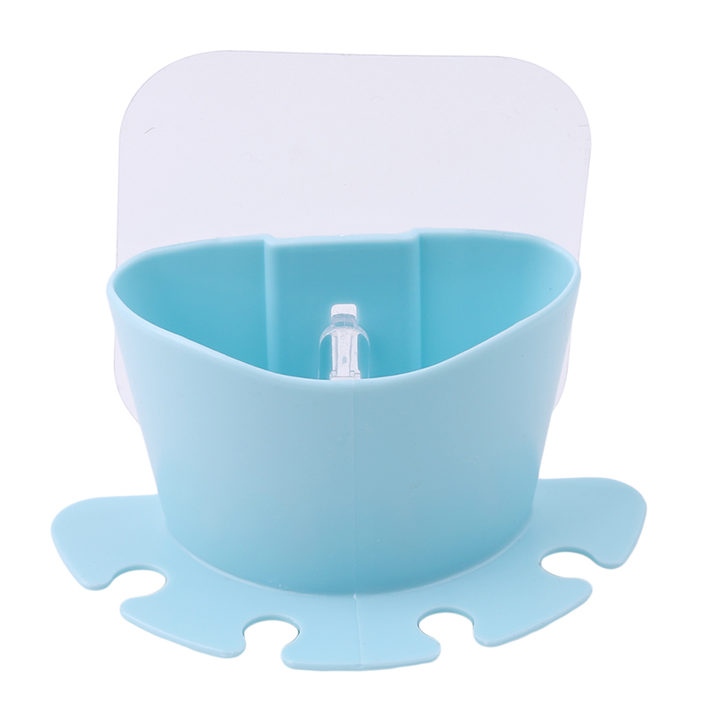 Useful Seamless Creative Wall With Four Double Sucker Wash Toothbrush Holder Sets Automatic Toothpaste Dispenser With Cups image