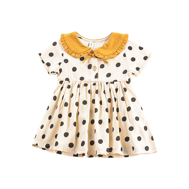 2019 Summer Girl Dress Dot Printed Baby Clothes