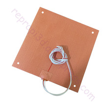 USA Material! CR10 S4 Silicone Heater Pad 400x400mm for Creality CR-10 S4 3D Printer Bed w/ Holes, Adhesive Backing, Thermistor