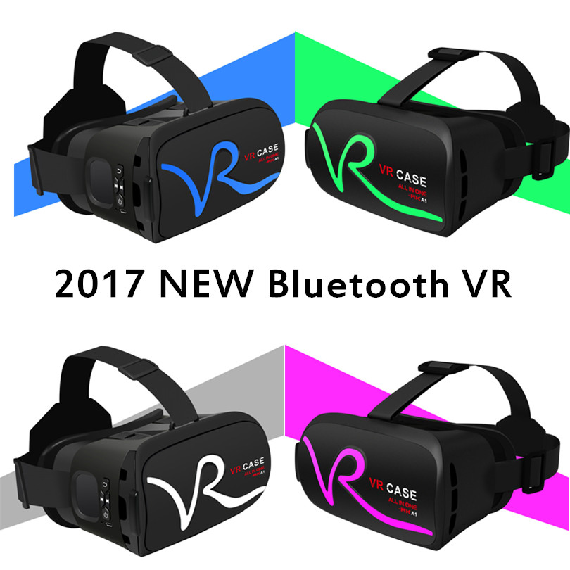 VR BOX 2.0 Bluetooth 3D Glasses Virtual Reality goggles google Cardboard with headset for iPhone & Android 4.7-6 Smartphone