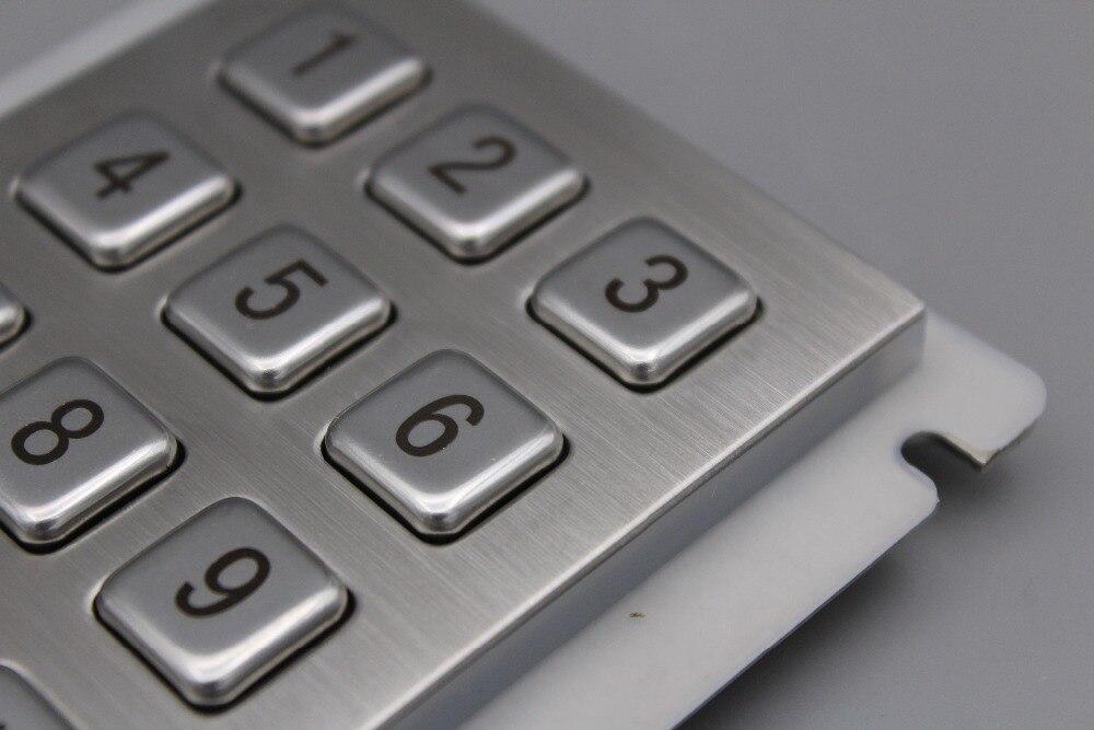 Teclado IP65 100% impermeable teclado de acero inoxidable teclado - Periféricos de la computadora - foto 5