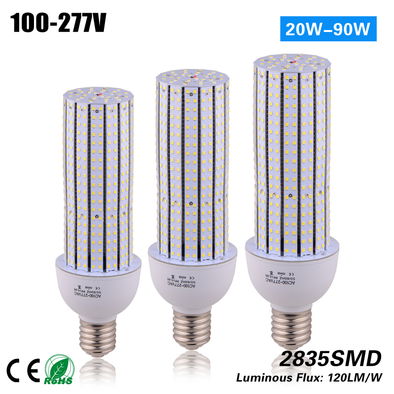 купить CE ROHS ETL 60w E27 E40 led corn light bulb 100-277VAC replace street light 200W HPS MH CFL дешево