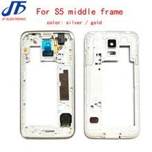 36df1ad197d 10 unids/lote LCD vivienda placa media Marcos Cámara del bisel para Samsung  Galaxy S5 i9600 g900f g900m g900h g900p
