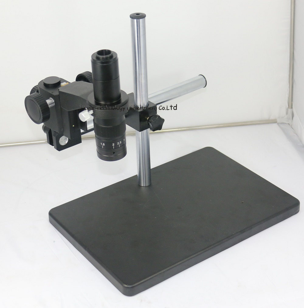 Big Size Adjustable table Stand Holder +Multi-axis Adjustable Metal Arm +180X C-Mount for Lab Industry Microscope Camera factory direct sale industry microscope stand lcd digital microscope camera arm holder size 50mm