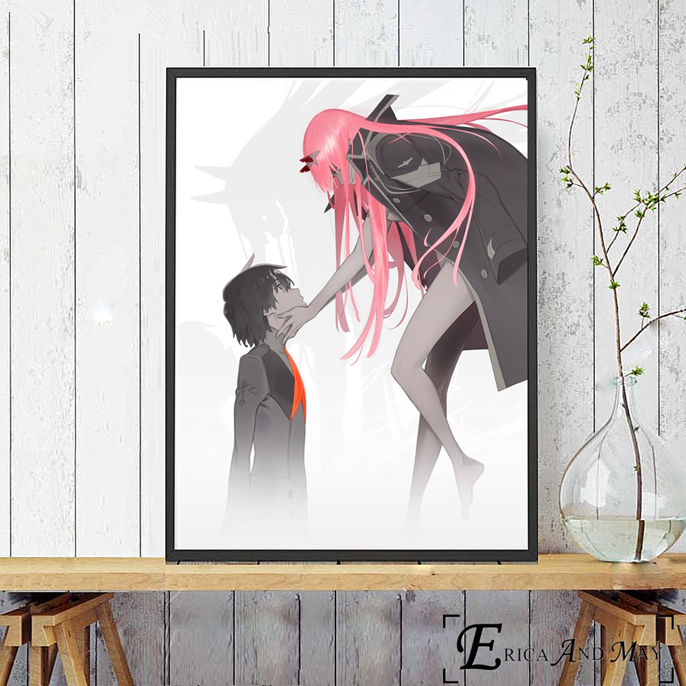 Trend  Darling In The Franxx Sexy Anime Figures Canvas Prints Modern Painting Posters Wall Art Pictures Fo