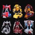 12 CM Filme Transformação Original Crianças Robô Ação Brinquedos Figura PVC Segurança Crianças Presentes Agradáveis Meninos Modelo de Robô Montar Anime