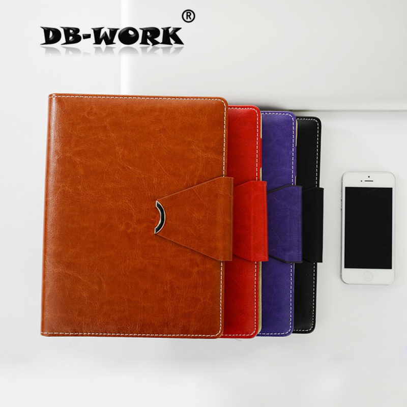 2018 Office stationery leather high-grade diary loose-leaf notebook A5 business notebook high quality pu cover a5 notebook journal buckle loose leaf planner diary business buckle notebook business office school gift