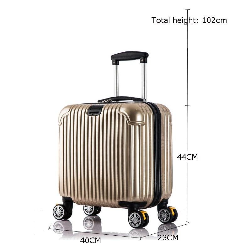 Высокое качество, красочные Гладкий минималистский 16/20/24/28 inch размер ПК Rolling Чемодан Spinner бренд дорожного чемодана - 6