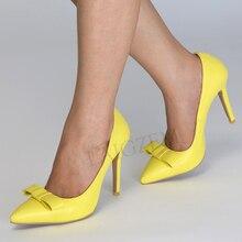 LAIGZEM/ г. Цветные женские Босоножки на каблуке с острым носком, на шпильке, без застежки Женская Базовая обувь женская обувь, zapatos mujer, большие размеры 34-47