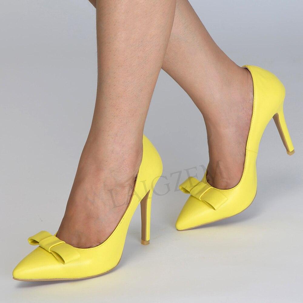 LAIGZEM 2020 Colorful Donne Tacchi A Spillo Punta A Punta Slip On Sandali Delle Signore di Base Scarpe Donna Zapatos Mujer Grande Formato 34  47-in Pumps da donna da Scarpe su  Gruppo 1