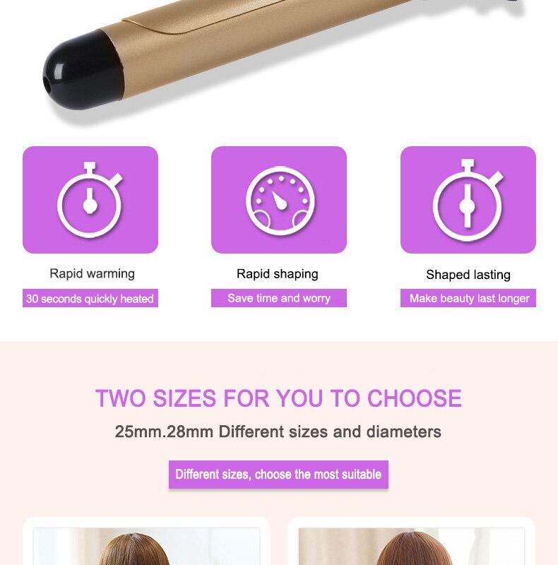 Rolos modelador de cabelo automático titânio ferro