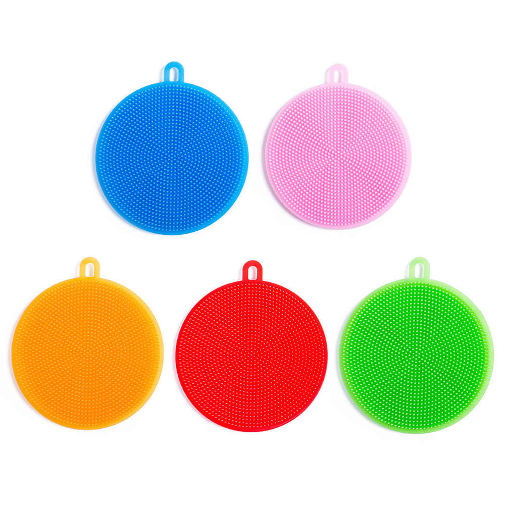 Magic Dish Washing Brush Kitchen Multifunction Silicone Scouring Pad Pot Pan Wash Brushes Kitchen Cleaner Washing Tool
