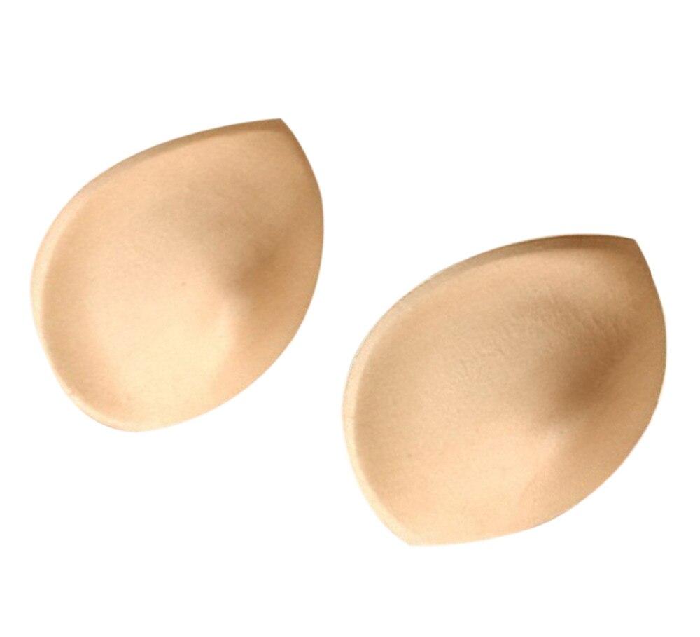 1 Pair Push Up Sponge Inserts Bra Pads Breast Enhancer Inserts Breast Bra Pads Enhancer Suitable for Swimsuit Underwear Bikini