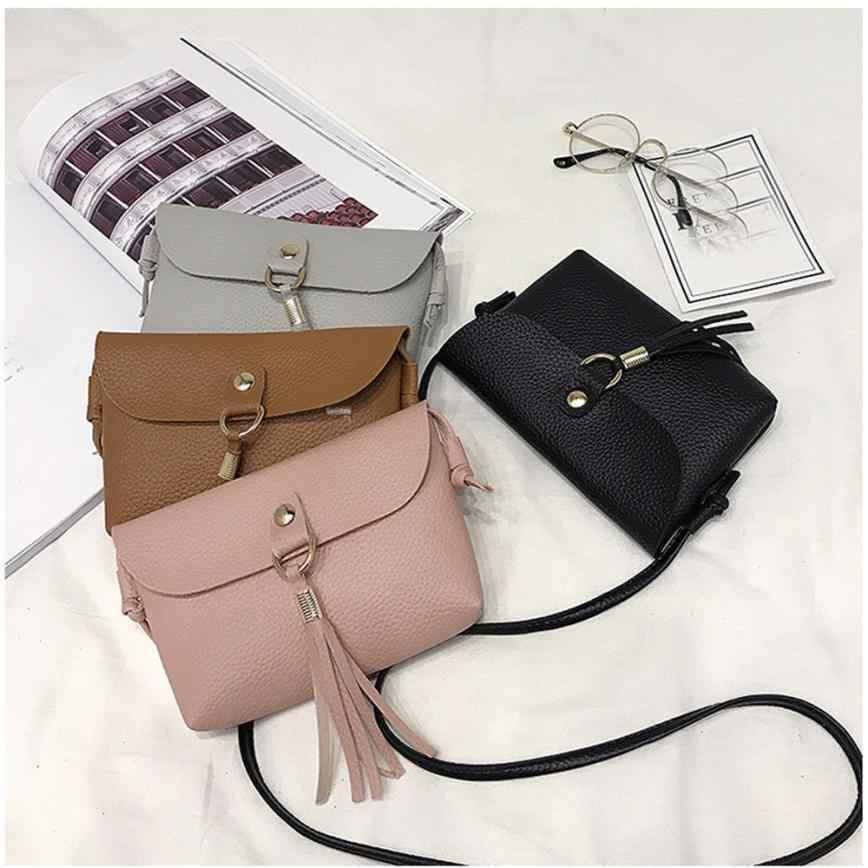 De las mujeres mensajero bolsa Crossbody bolsas para las mujeres Mini grasa cuero bolsos de hombro para las mujeres #