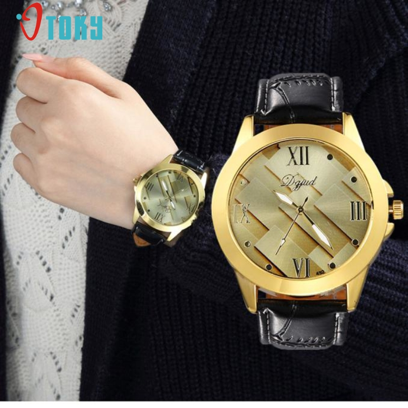 Excellent Quality Gold Wrist Watch Men Top Brand Famous Male Clock Quartz Watch Golden Wristwatch Quartz Watch Relogio Masculino
