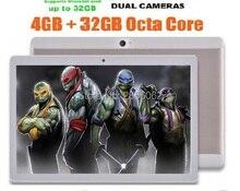 DHL Libre Tablet pc de 10 pulgadas Android 5.1 Octa core 4 GB de RAM 64 GB ROM 8 Núcleos Cámaras Duales 5.0MP 1280*800 IPS WiFi GPS Tabletas + Regalos