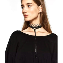2016 nuevo boho collar choker cinta borla collar de joyería de las mujeres declaración de moda cuello redondo hecho a mano étnico burlesque collier