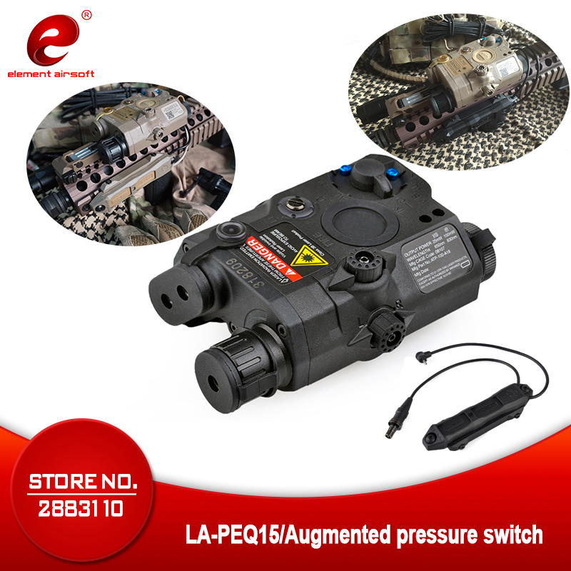 Element Airsoft LA PEQ15 Red Dot Tactical Wespon Flashlight PEQ Red Laser Tactical Remote Switch Pressure