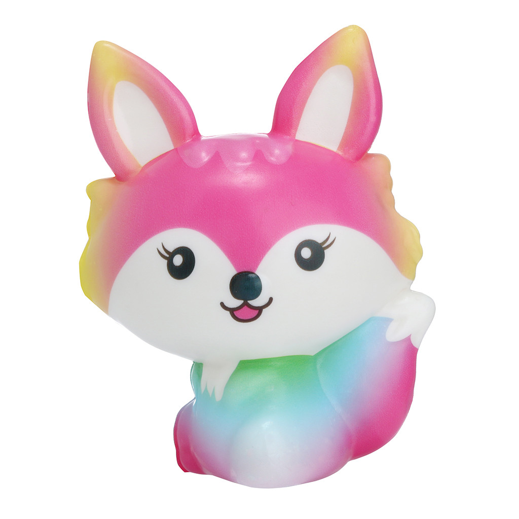 Kawaii Fox Squishy 2019 Slow Rising Cream Scented Squish For Stress Relief Wholsale Kids Toys