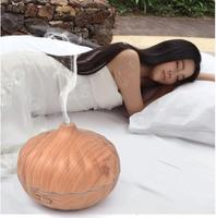2017 New Arrive 550ml Essential Oil Diffuser Wood Grain Ultrasonic Aroma Cool Mist Humidifier For Office