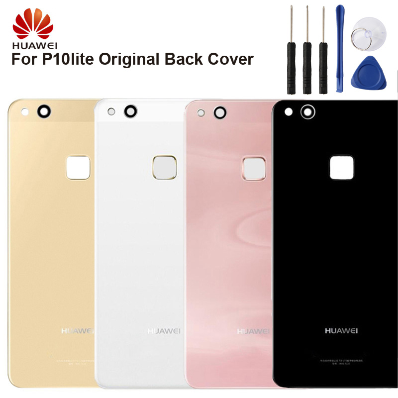 <font><b>Huawei</b></font> Original <font><b>Battery</b></font> Glass Back Cover Door For <font><b>Huawei</b></font> P10 lite <font><b>P10lite</b></font> Nova lite Rear Housing Back Cover Protective Cases image