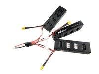 3PCS x Battery+ 1 charging line for MJX B3 (Bugs B3) little monster brushless quadcopter 7.4V 1800mah 25C battery