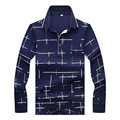 Brand New Mens <font><b>Polo</b></font> Shirt Long Sleeve Autumn Designer Plaid Fit Slim Cotton Business Causal Lapel <font><b>Polos</b></font> Men Top Tees 3XL CE8826