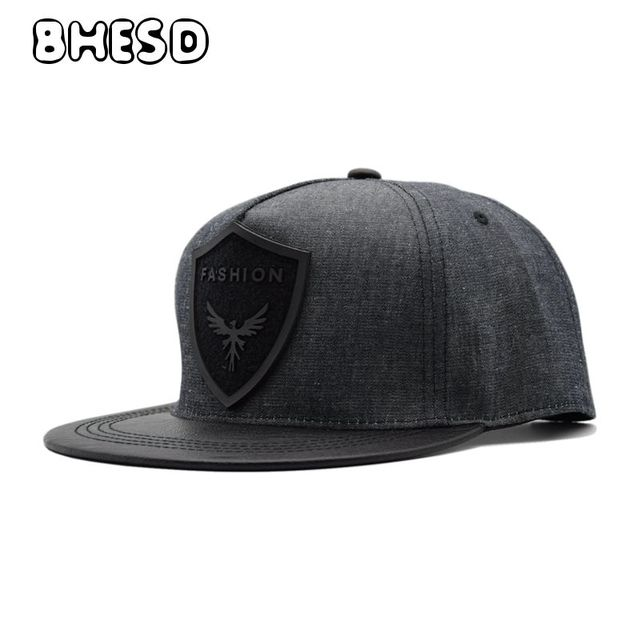BHESD 2018 Fashion Mens Grey Snapback Hip hop Hat Women PU Baseball Cap  Male Casual Cap Casquettes Homme Boys Hat Bone JY-706 f4928dc2307