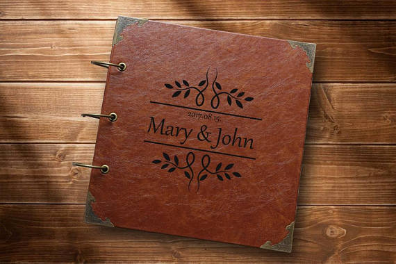 Leaf Guest Book Leather Custom Wedding Guestbook In Signature Books From Home Garden On Aliexpress Alibaba Group