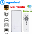 M6 Android 4.4.2 DLP LED Projector Smart TV Box XBMC 1G/8GB Miracast DLNA 2.4G/5G Dual Band WiFi Bluetooth 4.0 HDMI EUUS/UK Plug