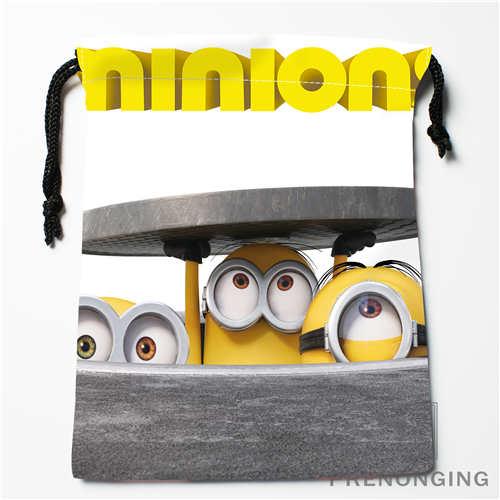 Custom Minion@01 Drawstring Bags Printing Fashion Travel Storage Mini Pouch Swim Hiking Toy Bag Size 18x22cm #171208-18