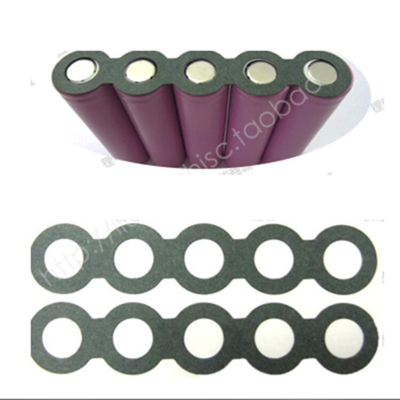 100pcs 18650 Battery Barley Paper 5P With Glue Used For 18650 Cylindrical Cell Insulation Spacer