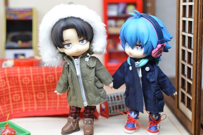 Obitsu11 OB11 vêtements de poupée coupe-vent capuchon détachable disponible pour cu-poche OB11 1/12 taille poupée accessoires poupée manteau