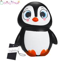 Elastic PU Female Penguin Squashy Slow Rebound Simulation Doll Children Toy Ornaments Novel Decompression Toys