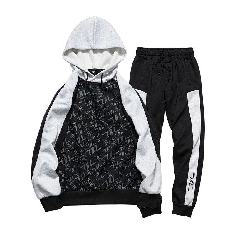 Élastique Hip L'europe Hoodies Black 2 Mode Moletom Sets Impression Ensemble De Ds5069 Taille Hop Pantalon Hommes Shirts Pcs Masculino qBwBF0P