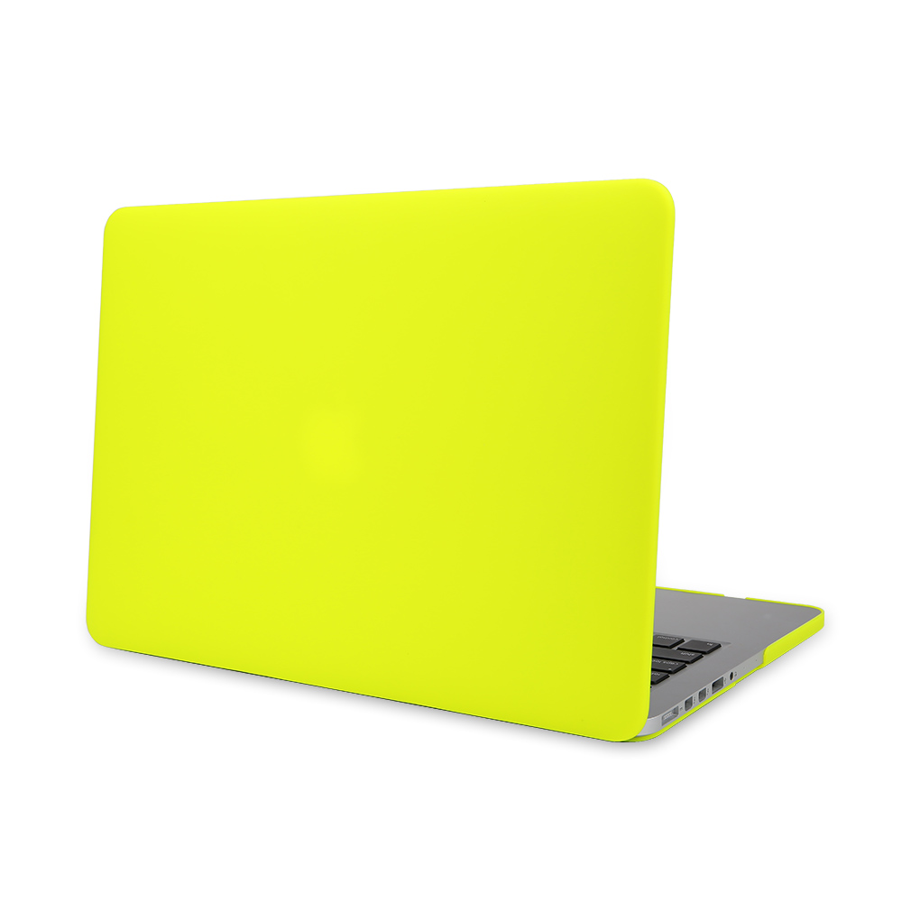Matte Rubberized Hard Case Cover for Macbook ProLaptop Shell- Air 13 inch Yellow