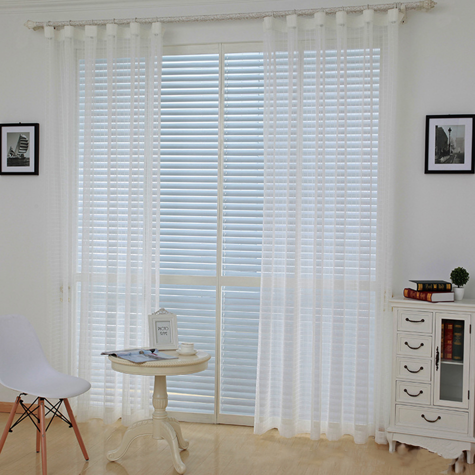 Modern Tulle Curtains For Living Room Blinds Drapes Window Curtains ...