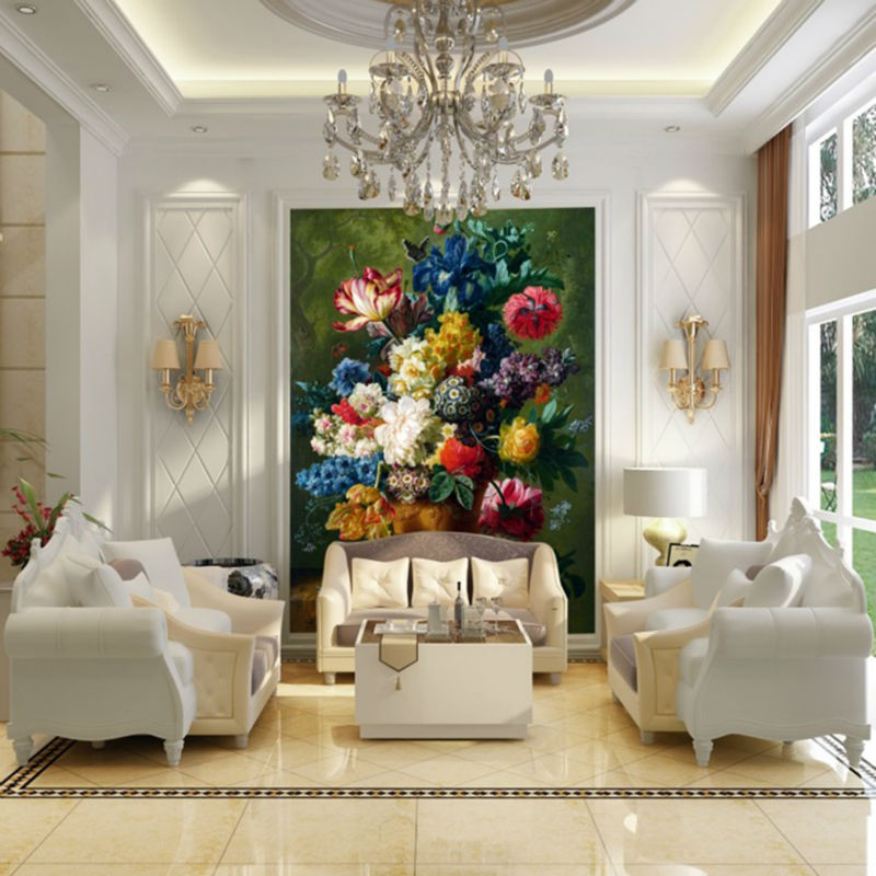 Customized European Style Vintage Beautiful Flowers Large Wallpaper For Walls Luxury Wall Paper