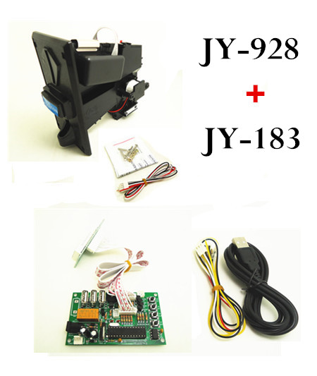 JY-928 multi coin selector with JY-183 USB timer board, control keyboard, mouse, any USB devices